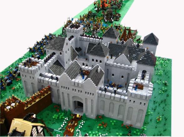 Photograph: a castle built of LEGO bricks