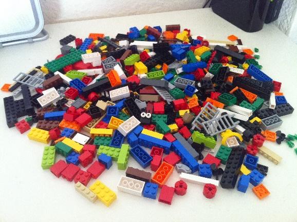 Pile of lego building blocks