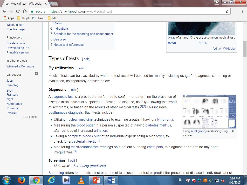 Screenshot of a Wikipedia article.