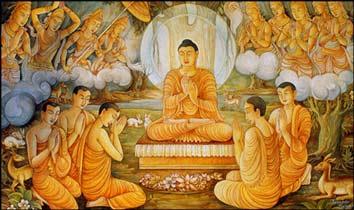 Buddha teaching at Sarnath