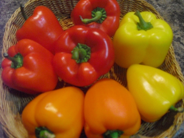 Photograph: Bell Peppers in a Basket
