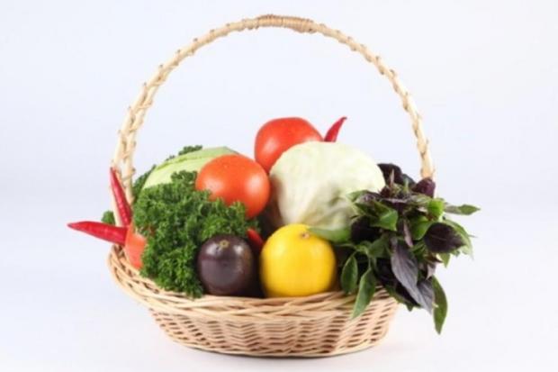 Photograph: Basket of Vegetables