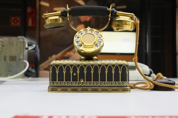 Photograph: Vintage Rotary Dial Brass Phone