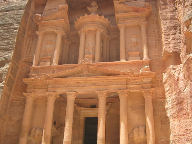 Photograph: Petra ancient carved stone temple