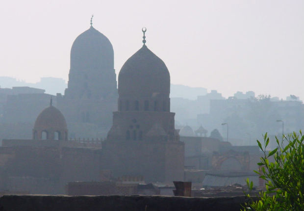Photograph: Dome buildings on the horizon