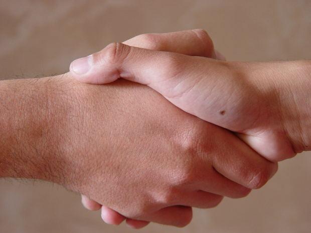 Photograph: Handshake greeting
